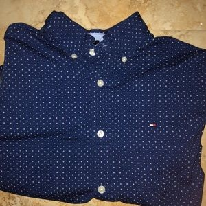 Blue tommy button up